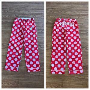 "Wisconsin Badger Pajama Pants 30.25"" Inseam Small"